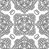 Seamless background with abstract ethnic pattern. Stock Image