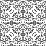 Seamless background with abstract ethnic pattern. Royalty Free Stock Image