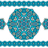 Seamless background with abstract ethnic pattern. Royalty Free Stock Photo