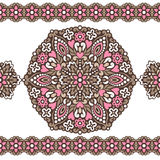 Seamless background with abstract ethnic pattern. Royalty Free Stock Photos