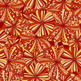Seamless background with abstract flowers Royalty Free Stock Image