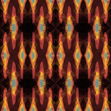 Seamless Background with abstract fractal pattern made of colorf Stock Image