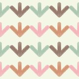 Seamless background with abstract geometric pattern. Arrows pattern. Scribble texture. Royalty Free Stock Image