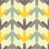 Seamless background with abstract geometric pattern. Arrows pattern. Scribble texture. Stock Photos