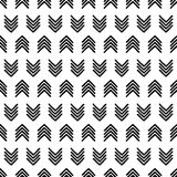 Seamless background with abstract geometric pattern. Pattern in black ink on white paper. Scribble texture. Textile rapport Royalty Free Stock Photography