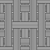 Seamless background. Abstract seamless background with intertwining black and white stripes stock illustration