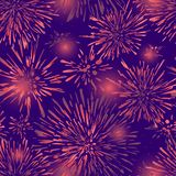 Seamless background with abstract spots. Colorful festive fireworks seamless pattern design. A new texture for your design,wrappin stock illustration