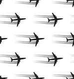 Seamless background with aircrafts Stock Images