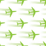 Seamless background with aircrafts Royalty Free Stock Photo