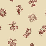 Seamless background with American Indians relics dingbats characters Stock Photo