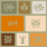 Seamless background with American Indians relics dingbats characters Stock Image