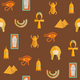 Seamless background on ancient Egypt theme Stock Image