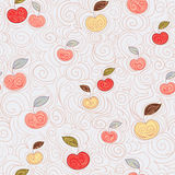 Seamless background with apples Stock Image