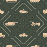 Seamless background with army vehicle Stock Photos