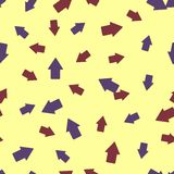 Seamless background: arrow geometry Royalty Free Stock Photography
