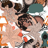 Seamless background in art nouveau style Royalty Free Stock Photo
