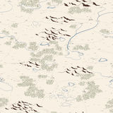 Seamless background of artistic painted map. Stock Photo