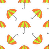 Seamless background with autumn and colorful parasols Stock Photo