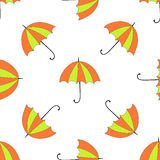 Seamless background with autumn and colorful parasols Royalty Free Stock Images