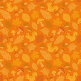 Seamless background of autumn icons. Royalty Free Stock Photos