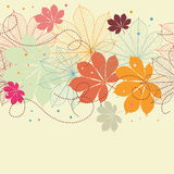 Seamless background with autumn leaves Stock Image