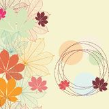 Seamless background with autumn leaves Stock Photo
