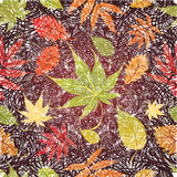 Seamless Background - Autumn Leaves. Thanksgiving. Vector grunge Seamless Background with colorful Autumn Leaves. Thanksgiving (from my big Seamless pattern Stock Photography