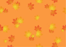 Seamless background from autumn maple leaves Stock Photo