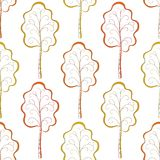 Seamless background, autumn trees vector illustration