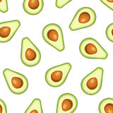 Seamless background with avocado fruit. Vector illustration. Stock Photo