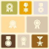 Seamless background with awards symbols Royalty Free Stock Image