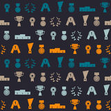 Seamless background with awards vector illustration