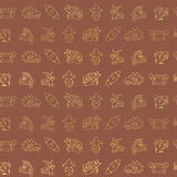 Seamless background with Aztec calendar Day glyphs Royalty Free Stock Photography