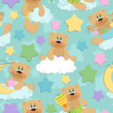 Seamless background for babies Stock Photo