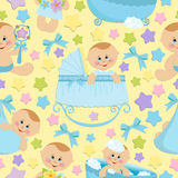 Seamless background with babies (EPS10) Stock Image