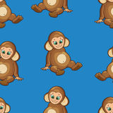 Seamless Background with baby dressed like monkey Stock Images