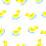 Seamless Background - Baby ducks Stock Photography