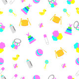 Seamless background baby toys Royalty Free Stock Image