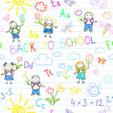 Seamless background. Back to school Stock Images