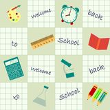 Seamless background back to school Stock Image