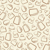 Seamless background with bags Royalty Free Stock Photos