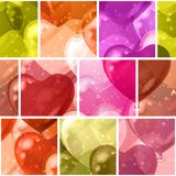 Seamless background with balloon hearts Royalty Free Stock Photo