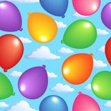 Seamless background with balloons 2 Royalty Free Stock Images