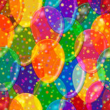 Seamless Background with Balloons Stock Photo