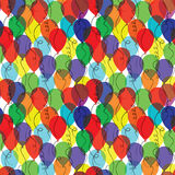Seamless background with balloons Royalty Free Stock Photography