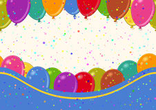Seamless Background with Balloons. Horizontal Seamless Background with Various Colorful Balloons, Beautiful Tile Pattern for Your Design. Eps10, Contains Stock Image