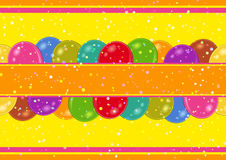 Seamless Background with Balloons. Horizontal Seamless Background with Various Colorful Balloons, Beautiful Tile Pattern for Your Design. Eps10, Contains Stock Photos