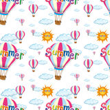 Seamless background with balloons in the sky. Illustration Stock Images