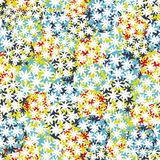 Seamless background with balls of flowers. Royalty Free Stock Images