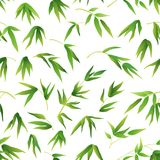 Seamless Background, Bamboo Leaves Royalty Free Stock Photo